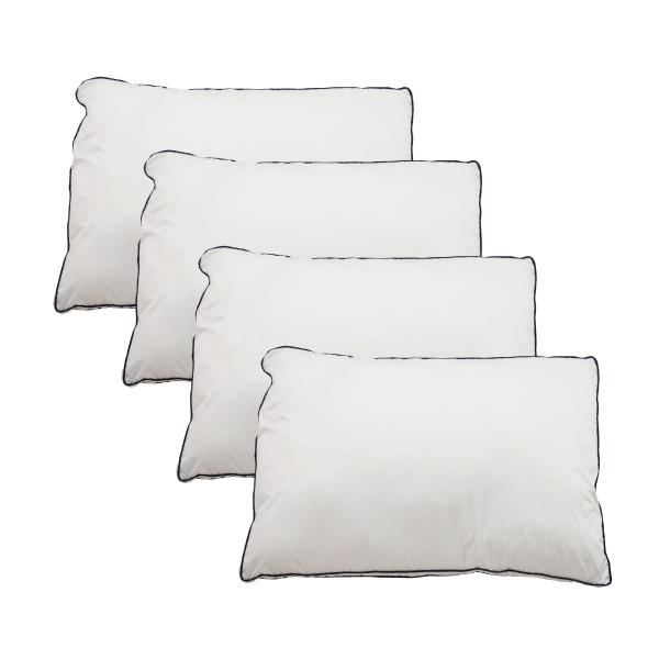 Goosely グースリー 枕 4個セット 羽毛 のような ふんわり 快眠 洗える まくら 43×63cm