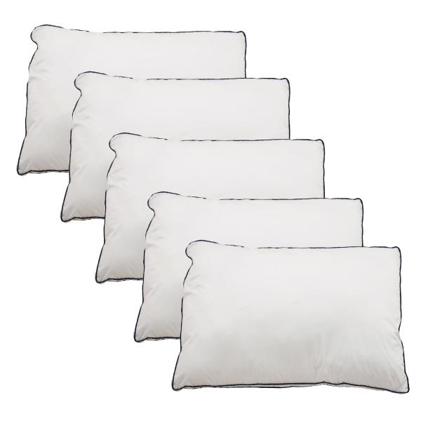 Goosely グースリー 枕 5個セット 羽毛 のような ふんわり 快眠 洗える まくら 43×63cm