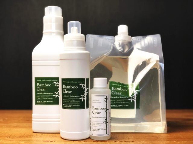 竹洗剤 「バンブークリア (Bamboo Clear)」 ~天然成分100%の無添加洗濯用竹洗剤~
