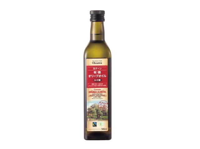 Ohsawa 「カナーン 有機オリーブオイル (ルミ種) 458g」 ~樹齢700~1000年のルミ種オリーブ使用のエクストラバージンオイル~
