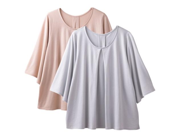 TAKEFU 竹布 タックフレアーTシャツ ~癒しと生命力をもたらす天然素材~