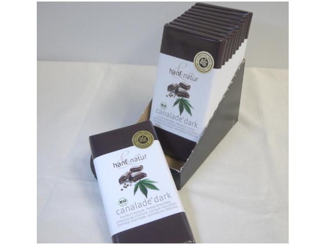オーガニックヘンプチョコレート 「カナレード ダーク (Canalade dark) 100g×10枚」 ~HANF & NATUR社~ ※季節限定10月~春