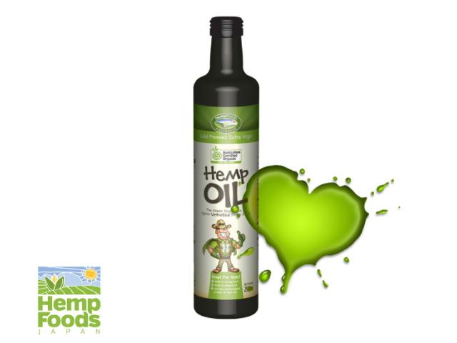 Hemp Foods Japan 「有機麻の実油 (ヘンプシードオイル) 250ml」 ~オーストラリア有機認定・有機JAS認証取得~