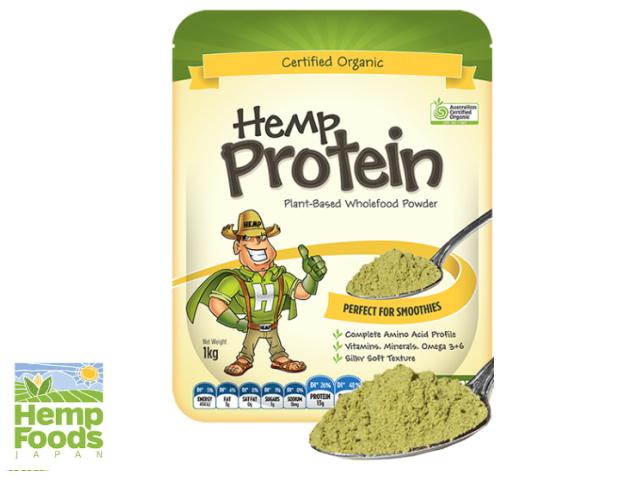 Hemp Foods Japan 「有機ヘンププロテインパウダー (1kg)」 ~オーストラリア有機認定・有機JAS認証取得~