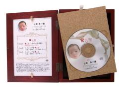 【オプション】 高級桐箱ケースへの変更 (赤ちゃんパッケージ) 桐の木製ケース
