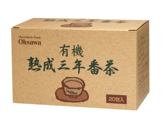 Ohsawa 「有機熟成三年番茶 ティーバッグ (20包)」 ~京都産有機茶葉100%~
