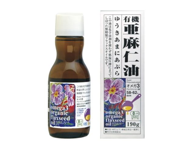 オーガニックフラックスシードオイル (有機亜麻仁油) 190g ~オメガ3(αリノレン酸)58-62%含有~