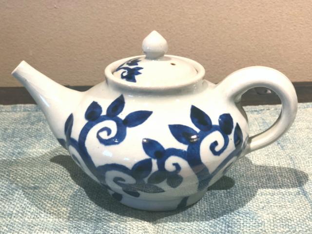 五山焼(いつつやまやき) 「ティーポット」 ~信州の陶芸家 朝比奈克文氏 陶芸作品