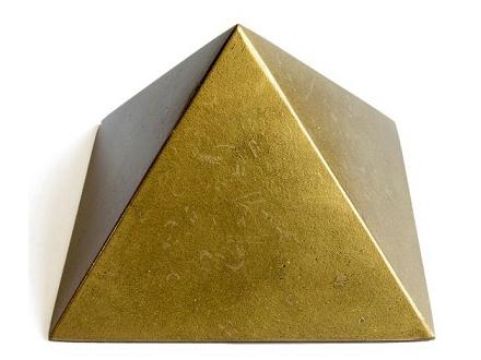 「チャクラピラミッド ゴールド (100×65mm)」 ~オルゴナイトとピラミッドパワーの融合!~