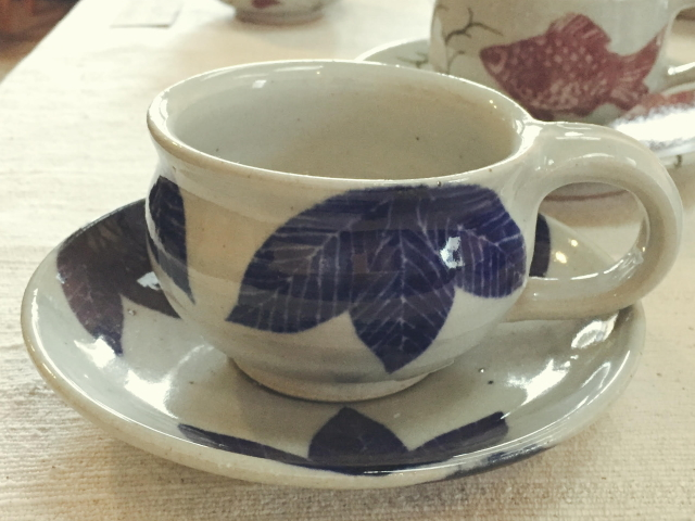 五山焼(いつつやまやき) 「珈琲カップ」 ~信州の陶芸家 朝比奈克文氏 陶芸作品