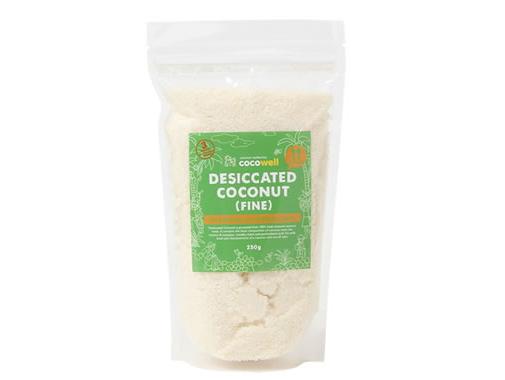 ココウェル デシケイテッドココナッツ (250g) ~ココナッツ果肉を乾燥させた粒状のフレーク~