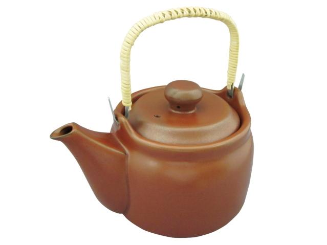 直火用・耐熱性セラミック 「けんこう土瓶 (1.6リットル用)」 ~お茶がマイルドに!煎じ薬が活きる!~
