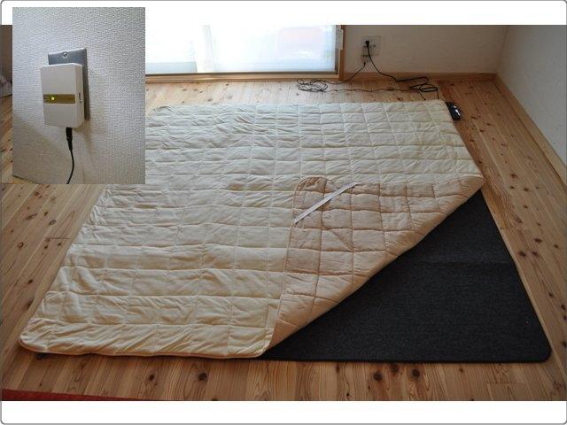 らくなちゅらるホットカーペット 2畳用(176×176cm) エルマクリーンセット ~電磁波カットのホットカーペット~
