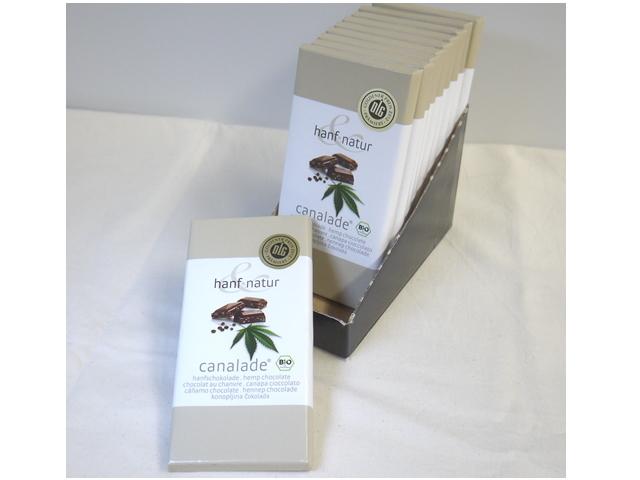オーガニックヘンプチョコレート 「カナレード (Canalade) 100g×10枚」 ~HANF & NATUR社~ ※季節限定10月~春