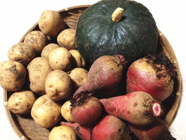 「Sibaenn (さいばえん) カボチャ&ジャガイモ&ビーツ セット」 【毎週水曜日と土曜日に農園より発送】 ~テネモス理論・自然の法則を応用して栽培された信州産の野菜~