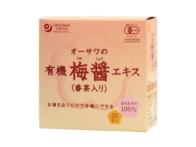 Ohsawa 「オーサワの有機梅醤エキス(番茶入り)分包 180g(9g×20包) ~お湯を注ぐだけで梅醤番茶に~