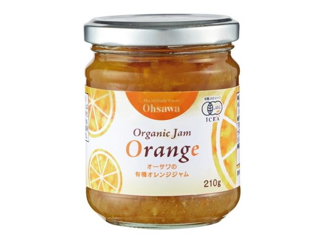 「オーサワの有機オレンジジャム (210g)」 ~有機オレンジを贅沢に使用・砂糖・保存料・着色料不使用~