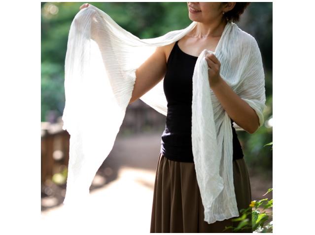 【限定品】 TAKEFU 竹布 × 草木染シルクストールト ~癒しと生命力をもたらす天然素材~