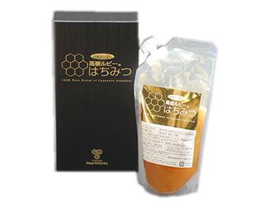 """高嶺ルビー はちみつ (350g) ~""""日本みつばち""""が採取した「赤そば」のハチミツ~"""