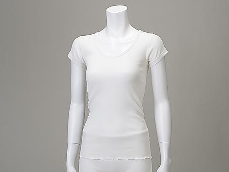 TAKEFU 竹布 「竹のテレコUネックシャツ」 Lady's ~癒しと生命力をもたらす天然素材~