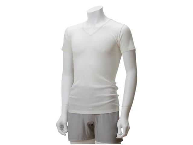 TAKEFU 竹布 「竹のテレコVネックシャツ」  Men's ~癒しと生命力をもたらす天然素材~