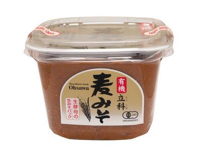 Ohsawa 有機みそ 「有機立科 麦みそ (750g)」 甘口