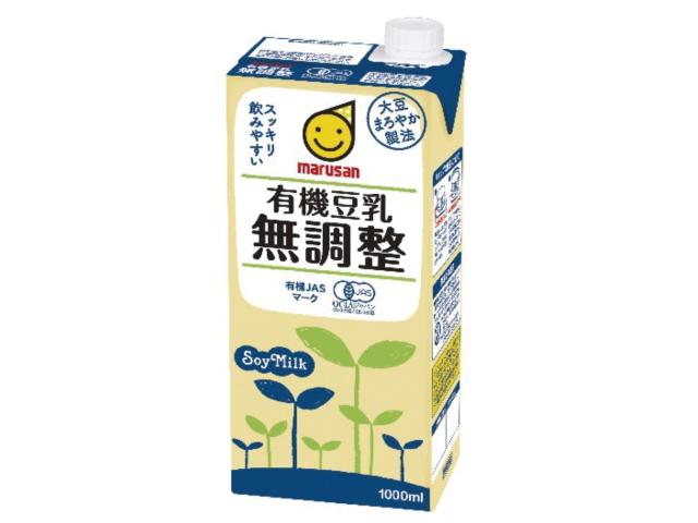 「marusan 有機豆乳 無調整 (200ml/1000ml)」
