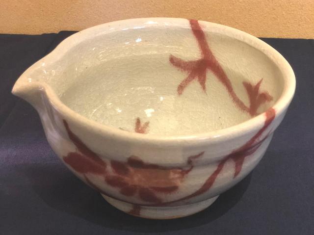 五山焼(いつつやまやき) 「とろろ片口」 ~信州の陶芸家 朝比奈克文氏 陶芸作品