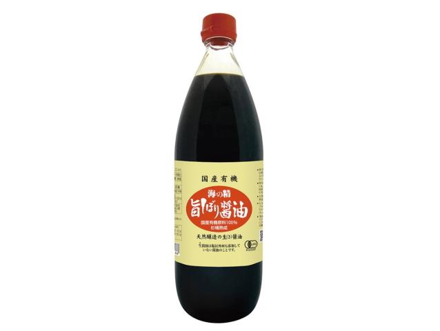 「海の精 国産有機・旨しぼり醤油 (1000ml)」