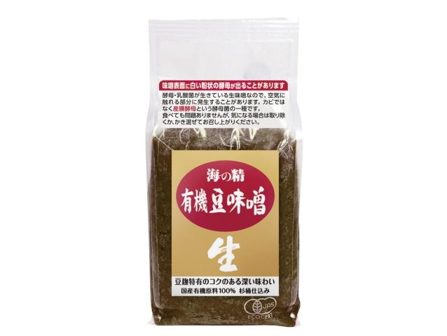 海の精 国産有機 豆味噌 (1kg)
