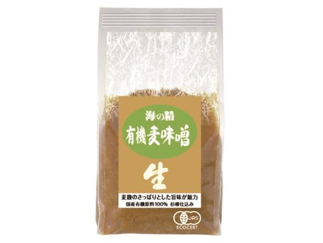 海の精 国産有機 麦味噌 (1kg)