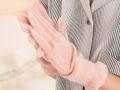 麻福ヘンプ 「おやすみ手袋」 (べんがら手染め 茜色)