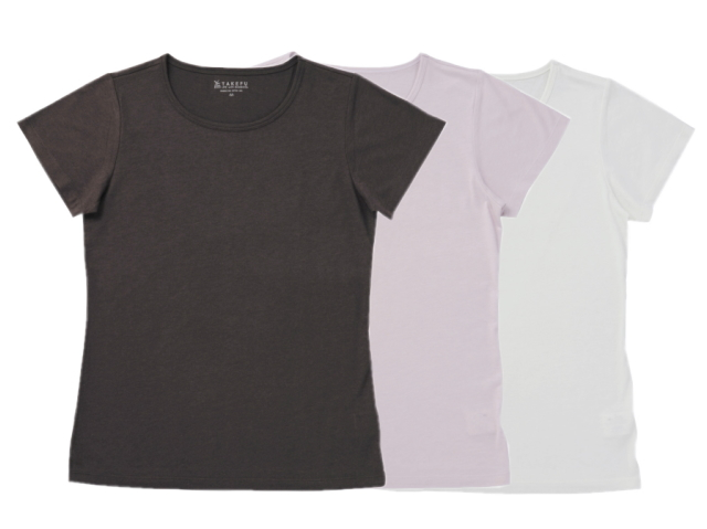 TAKEFU 竹布Tシャツ Lady's (丸首半袖) ~癒しと生命力をもたらす天然素材~
