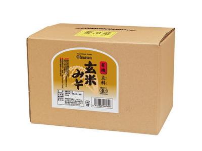 Ohsawa 有機みそ 「有機立科 玄米みそ (3.6kg)」 甘口