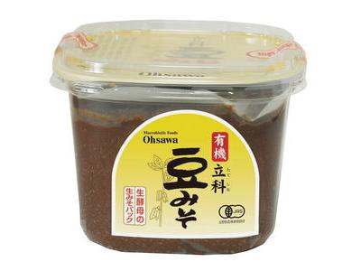 Ohsawa 有機みそ 「有機立科 豆みそ (750g)」 中辛口