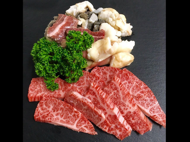 鹿児島県産特選黒毛和牛 カルビ約150g&ホルモンミックス約200g