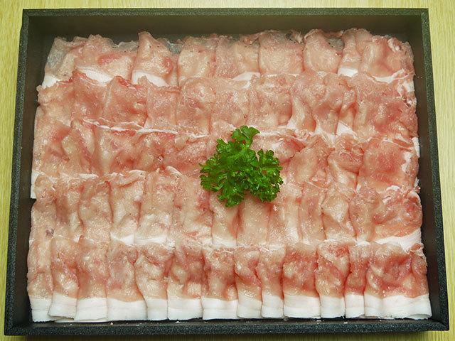 鹿児島県産黒豚ロースしゃぶしゃぶ用 約500g
