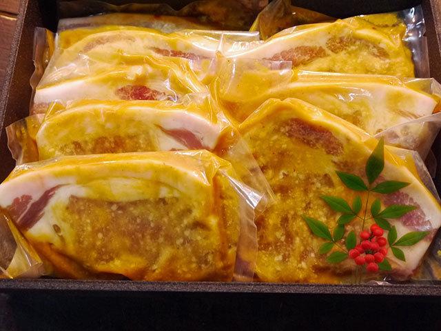 国産豚ロース西京味噌手作り漬け 約100g×8枚入