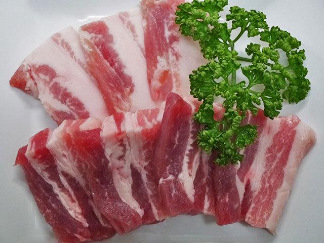 国産豚バラ焼肉用 約300g