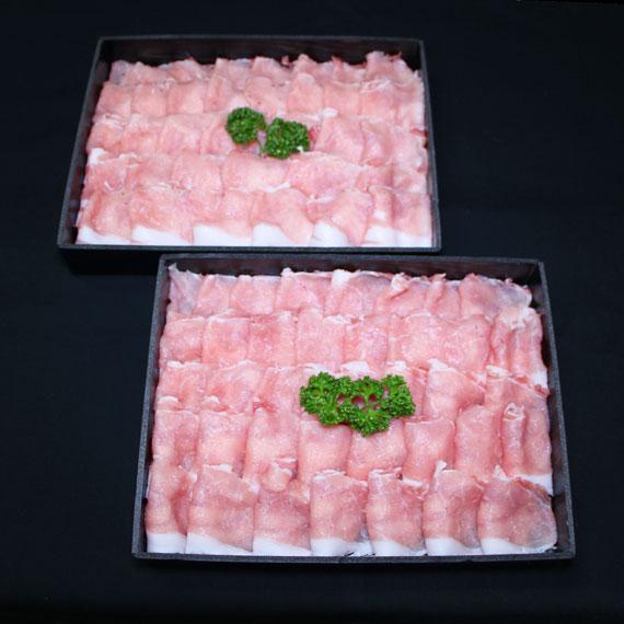 鹿児島県産黒豚ロースしゃぶしゃぶ用 約1kg(約500g×2)