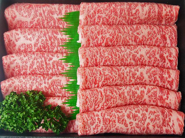 鹿児島県産特選黒毛和牛ロース すき焼き/しゃぶしゃぶ用 約700g