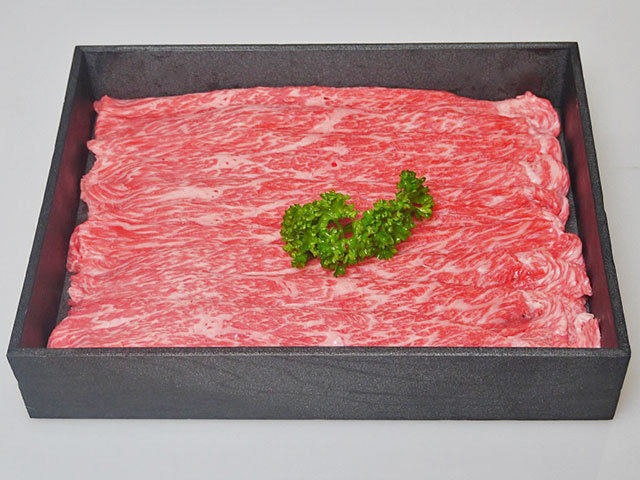 鹿児島県産黒毛和牛モモ すき焼き/しゃぶしゃぶ用 約700g
