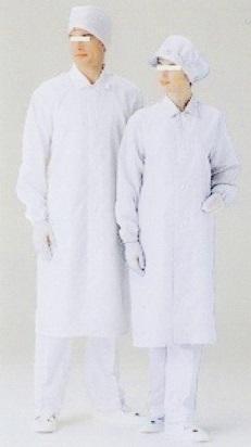 無塵服(見学用白衣 エレパレスS-3550W)
