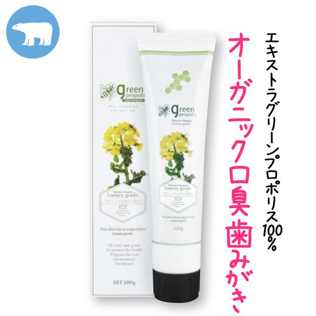 グリーンプロポリストゥースペースト(100g)/「自然派」息ミガキ歯ミガキ。口臭予防グリーンプロポリス100%で息すっきりなすてき笑顔に。やさしいペパーミントの香り。/本店割引価格