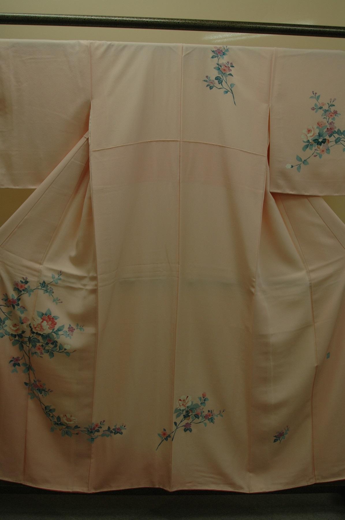 Monoki「モノキ」 【正絹 付下げ 花柄 ピンク 2074】 着物リメイク&リユース リサイクル