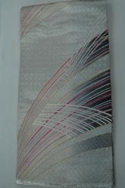 Monoki「モノキ」 【仕立て上がり 袋帯 白銀  2148】 着物リメイク&リユース リサイクル