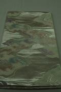 Monoki「モノキ」 【仕立て上がり 袋帯 シルバー 露 2135】 着物リメイク&リユース リサイクル