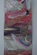 Monoki「モノキ」 【仕立て上がり 袋帯 ピンク・紫 2147】 着物リメイク&リユース リサイクル