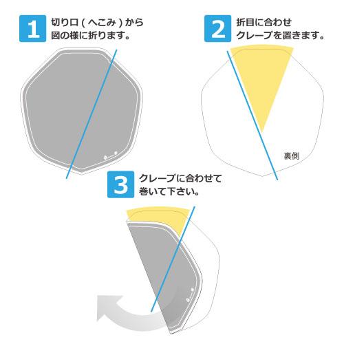 クレープ包装紙巻き方包み方