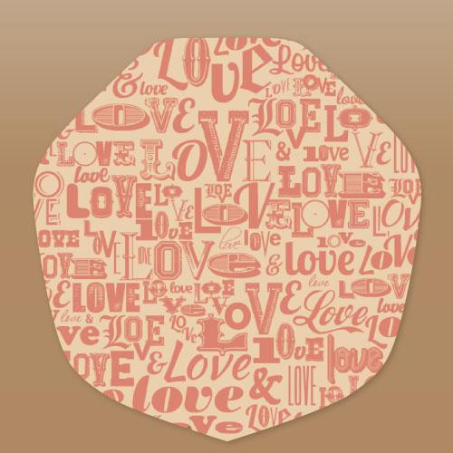 ラミクラフトクレープ包装紙LOVE
